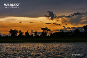sunset at nagarhole national park