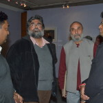 Conservationist and Writer Valmik Thapar with Vinod Goel at his wildlife exhibition