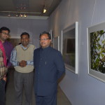 Photographer and photojournalist Raghu Rai at with wildlife photographer Vinod Goel at his wildlife exhibition