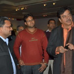 Actor Shatrughan Sinha with Vinod Goel at his wildlife exhibition