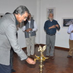 Environment Film-maker Mike Pandey at Vinod Goel's exhibition