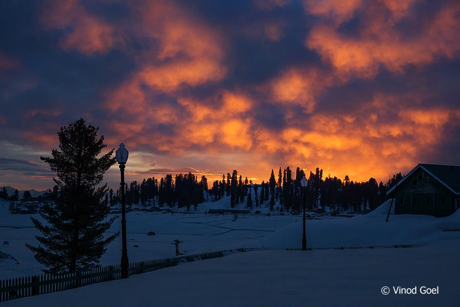 Colorful Clouds in the morning at Gulmarg