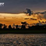 sunset at nagarhole national park