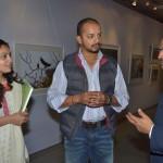 Cricketer Murali Kartik with Vinod Goel at his wildlife exhibition