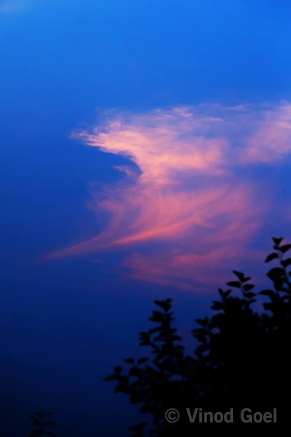 AUM in the sky of Delhi